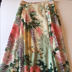 Ranna Gill Anthropologie Floral Maxi Skirt Size 8
